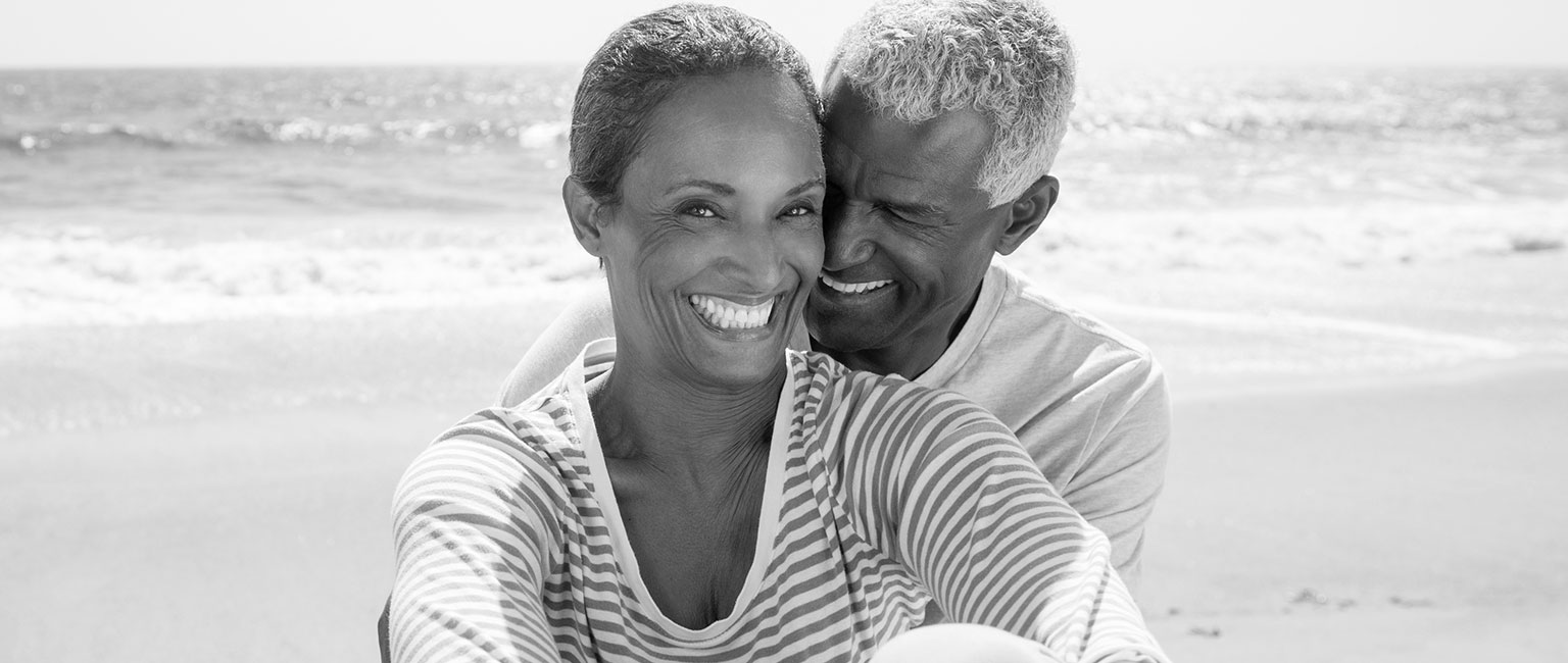 smiling older couple